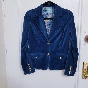 Velvet dark blue  blazer